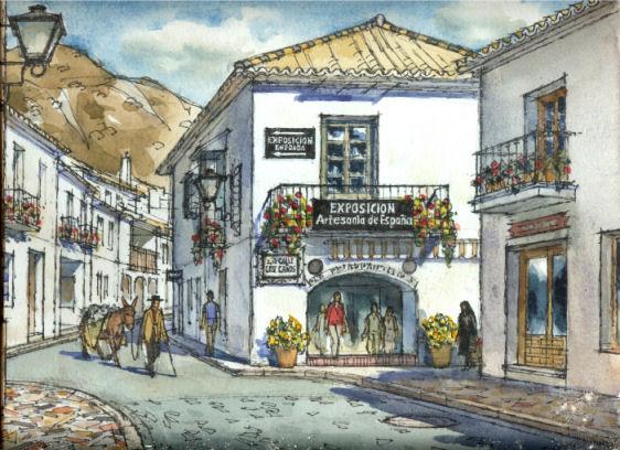 Exposici n de artesan a de espa a en mijas pueblo for Artesanias de espana