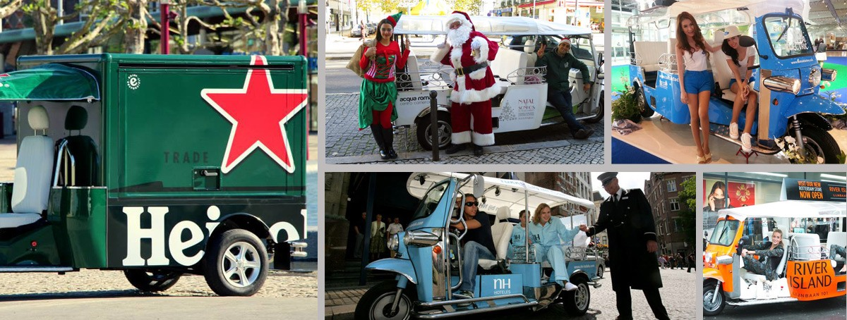 Marketing, branding and advertising with Tuk Tuk Spain