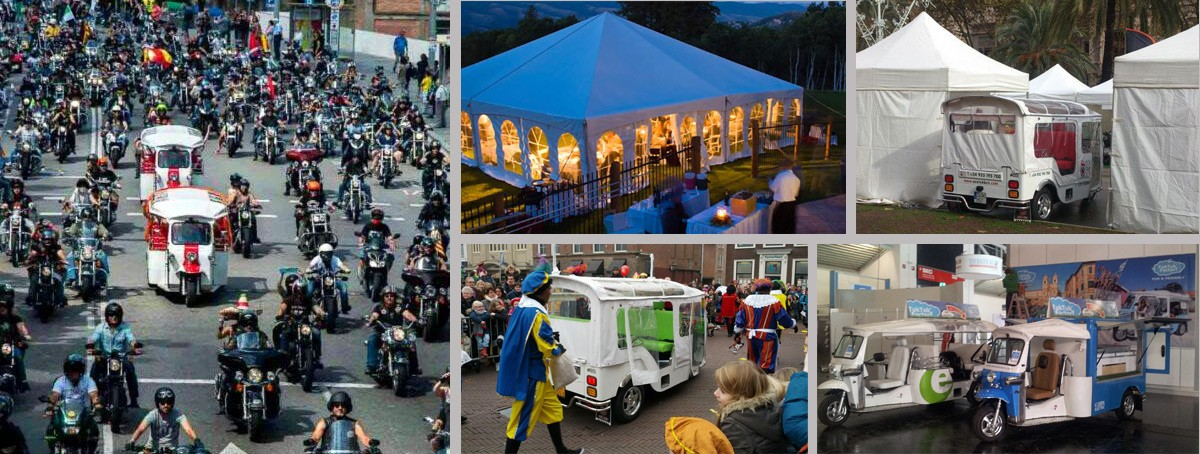 Celebrate your events with Tuk Tuk Spain